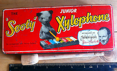 Sooty Xylophone in Red Tin 1952 Harry Corbett