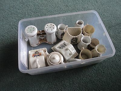 Job Lot Of Pottery Crested Ware In Good Condition 13 Pieces Unusual Items
