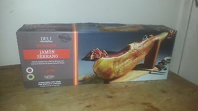 Jamon Serrano 7.5kg - 10 Months Matured - Includes Stand and Carving Knife