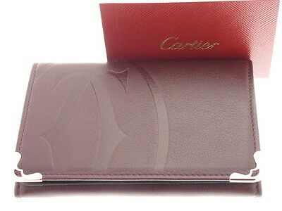 CARTIER Must Logo porta documenti pelle bordeaux referenza L3000927 new