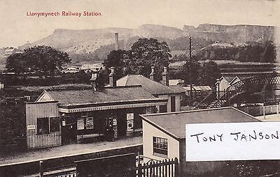 LLANYMYNECH Railway Station INTERIOR VIEW Cambrian Railway RARE