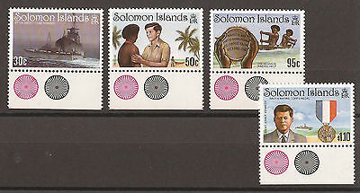 Solomon Islands 1993 John F Kennedy set  Unmounted Mint  (SG 775 to 778)