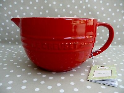 Le Creuset Red 2 Litre Mixing Batter Bowl Jug - Brand New