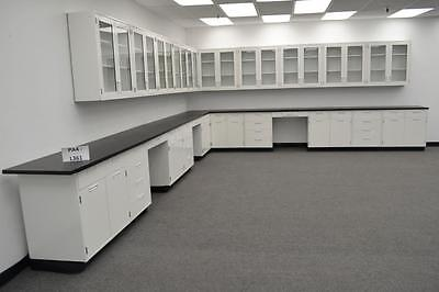 Hamilton Laboratory 34' Base Bench & 29' Wall Cabinets with Tops (PA4-L361) - 3.