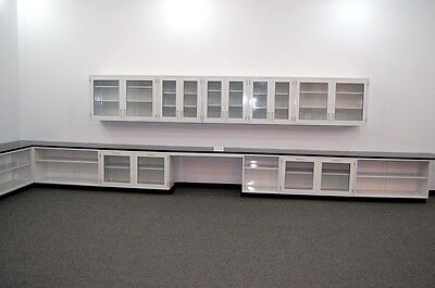 Fisher Lab 36' Glass Cabinets & Casework W/ Glass Door Upper / Wall Cabinets...