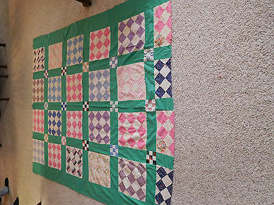 VINTAGE ALL COTTON QUILT TOP. 1940/50's.