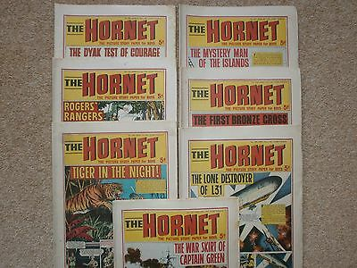 7 vintage Hornet comics 1960s  consecutive issues (1967) - exactly 50 years old!
