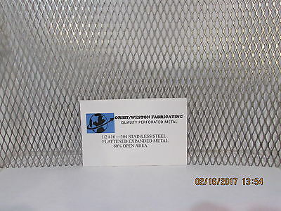 "1/2  #16 304 Stainless Steel Flattened Expanded Metal-----12"" X 12"""
