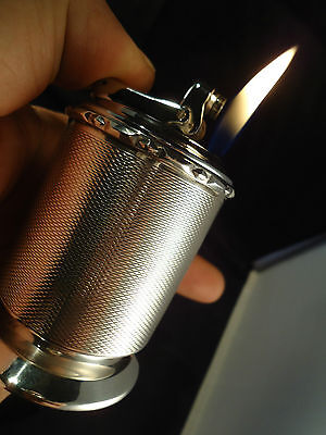 Colibri TABLE Gas Lighter - 1965 - .925 Silver Hallmarks - Feuerzeug/Briquet