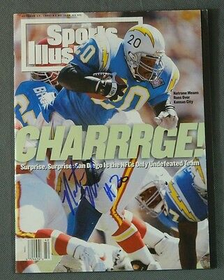 Natrone Means San Diego Chargers SIGNED Sports Illustrated autographed
