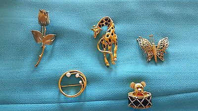 Lot of Gold Pins (brooches)