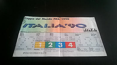 Biglietto Ticket ITALIA 90 BELGIO URUGUAY 3-1 Italy WORLD FOOTBALL CHAMPIONSHIP
