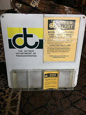 DDOT Detroit Dept. of Transportation Rider News metal ad rack GMDD Classic