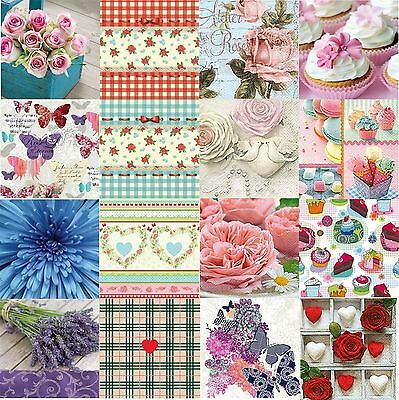20 Pck Decorative Paper Napkin Decoupage Craft Tableware Birthday Party Occasion