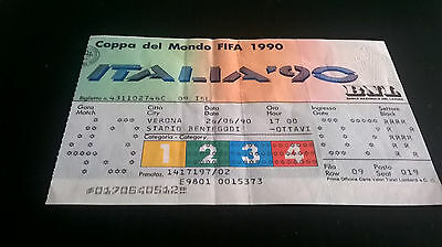 Biglietto Ticket ITALIA 90 SPAGNA JUGOSLAVIA Italy WORLD FOOTBALL CHAMPIONSHIP