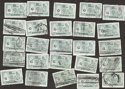 Stamps Canada # O38, 50¢, 1953, lot of 25 used stamps.