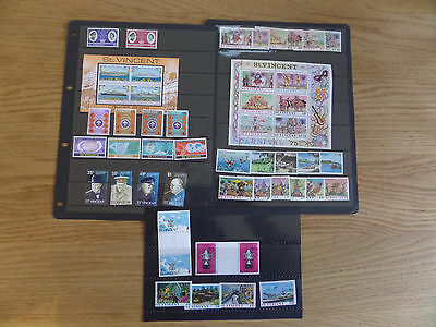 St Vincent 1968-75 Nine sets and two miniature sheets unmounted mint