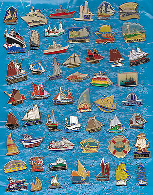 Lot 52 Pin's BATEAU A VOILES MARINE PAQUEBOT VOILIERS NAVIRE BOATS ETC  +ref3+++