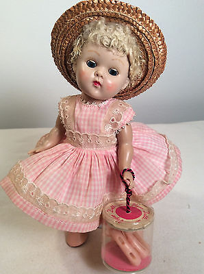 Vintage STRUNG 1950-53 STRUNG.GINNY in ~~Carucal hair~~Pink Wavette w/curlers
