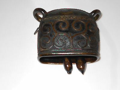 19th Century Antique Bronze Water Buffalo Bell