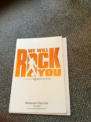 we will rock you the musical programme