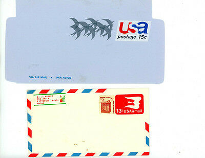 US Awesome selection of mint never used Airmail postal envelopes -- Outstanding