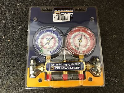 Ritchie Yellow Jacket 42001 Series 41 2 Valve Manifold Only R-22 / 404a / 410a