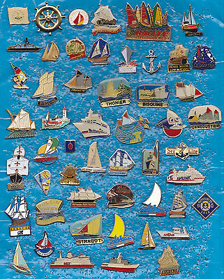 Lot 52 Pin's BATEAU A VOILES MARINE PAQUEBOT VOILIERS NAVIRE BOATS ETC  +ref4+++