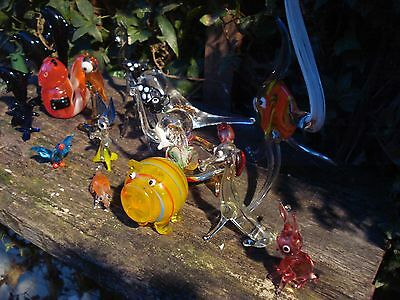 vintage / murano /  glass animals pig ect  collection