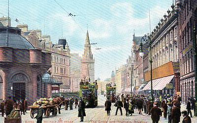 Cross and Troongate Glasgow unused old postcard Reliable series
