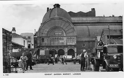 Covent Garden Market Lorry London unused RP old pc Charles Skilton