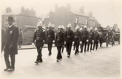 Fire Brigade Fireman Funeral Procession unused RP old pc by Holme Long Eaton