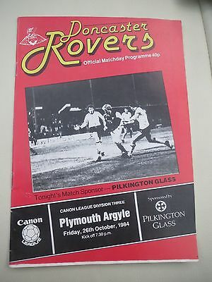 Doncaster Rovers V Plymouth    1984/5