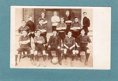 Football Team 1904/5 RP old pc used 1907 posted South Kensington London