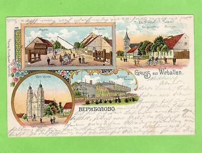 Gruss Aus Wirballen Verzhbolovo Lithuania Russia pc used 1904 to Hanover Germany
