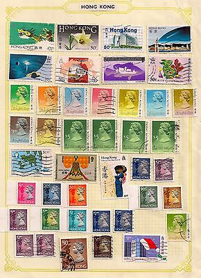Hong Kong-Selection Of Qeii Fine Mint And Used Stamps On Album Page.good Lot.