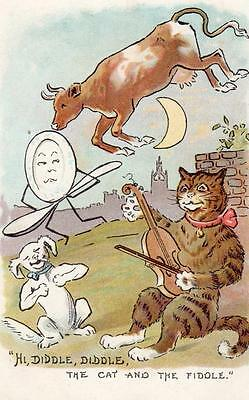 Hi Diddle Diddle the Cat and the Fiddle Nursey Rhyme old pc used Ruddock