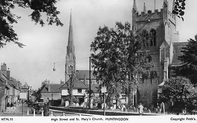 High Street St Mary's Church Huntingdon unused RP pc Frith