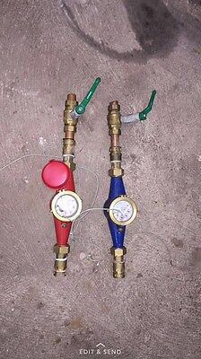 Two 25mm Pulsed Water Metre