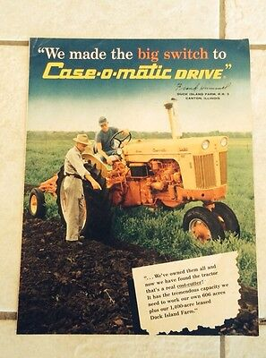 """Case Omatic Tractor Ad 10"""" X 13"""""""