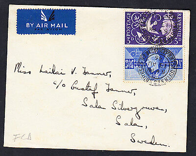 Gb 1946 Victory First Day Cover To Sweden