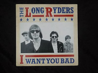 "THE LONG RYDERS i want you bad 1987 7"" NM mod paisley underground"