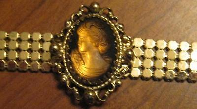 Vintage Whiting and Davis Cameo Choker/Necklace Signed 1950,s