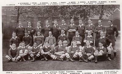South Africa African Rugby Football Team Springbok RP old pc used 1906 Rotary