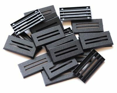 50 (Fifty) 25mm x 50mm Rectangular Cavalry / Bike Bases Wargaming / Roleplaying