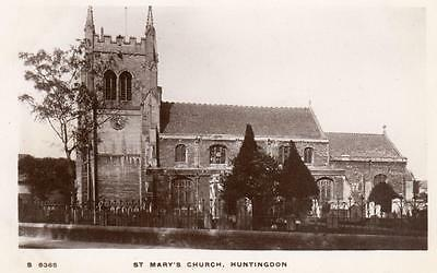 St Mary's Church Huntingdon unused RP pc WHS Kingsway