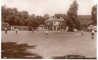 St Mary's School Melrose Cricket unused RP old PC A R Edwards Selkirk