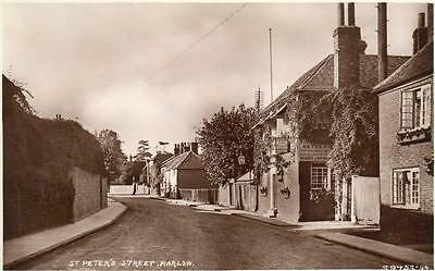 St Peters Street Marlow Fishermans Retreat Pub ? RP old pc used  WHS & S
