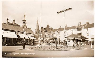 Wellingborough Market Square RP old pc used Landscape View