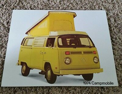Original 1974 VW Campmobile Sales Brochure
